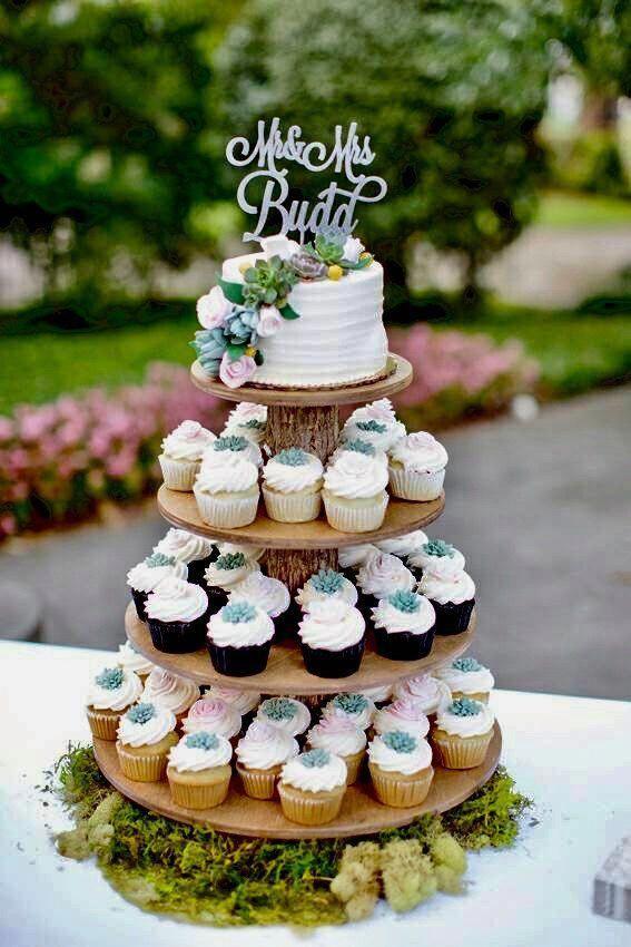 Wedding Cakes 1 Tier Vintageweddingcakes Wedding Cakes 1 Tier Vintageweddingcakes Source By Charl In 2020 Rustic Cupcake Stands Fall Wedding Cakes Rustic Cupcakes