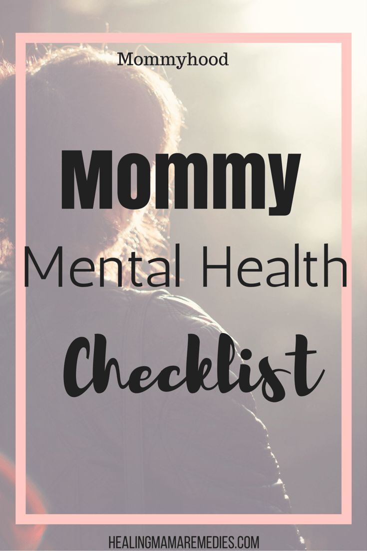 mommy mental health