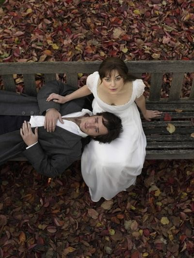 Lizzie Bennett & Mr. Darcy. I love this shot. I would like to recreate this for a photo shoot.