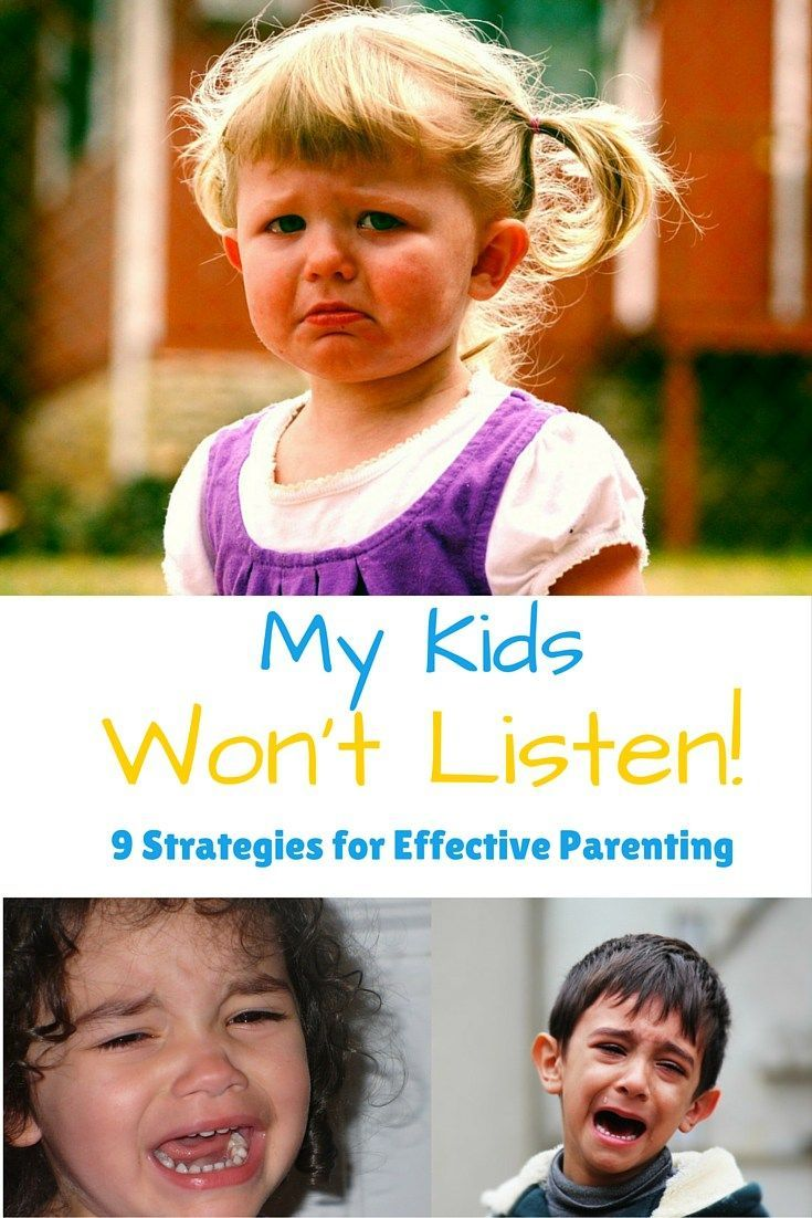 "My Kids Won't Listen: ""My kids won't listen to me!"" said every person who has ever been a parent. Finally 9 positive parenting strategies that actually work!"