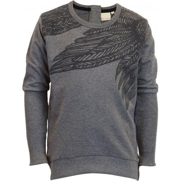 Grå sweatshirt med print fra KOIN. Med mange små detaljer, som gør den feminin samtidig med den er sej, perfekt til den lidt større pige.