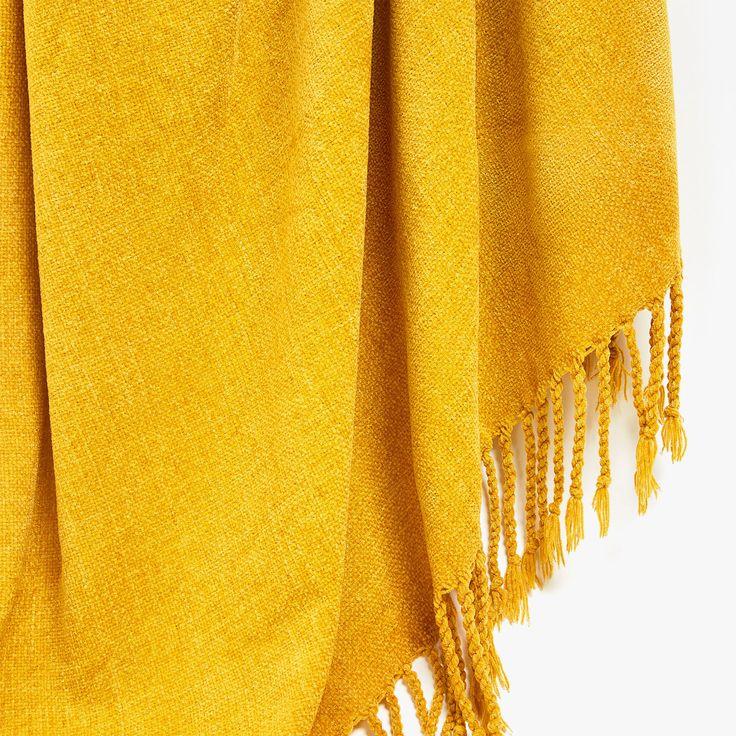 PLAIN CHENILLE BLANKET - Blankets - Bedroom | Zara Home Jordan