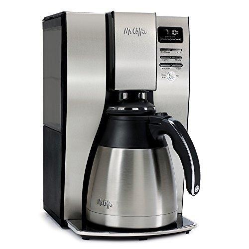Mr. Coffee 10-Cup Optimal Brew Thermal Coffee Maker, Stainless Steel