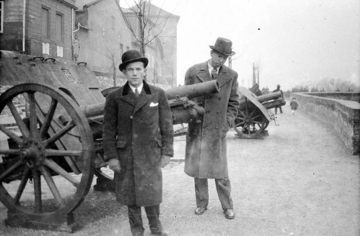 Anjou (Prímás) bástya az Esztergomi rondella felé nézve. - Budapest, 1929.