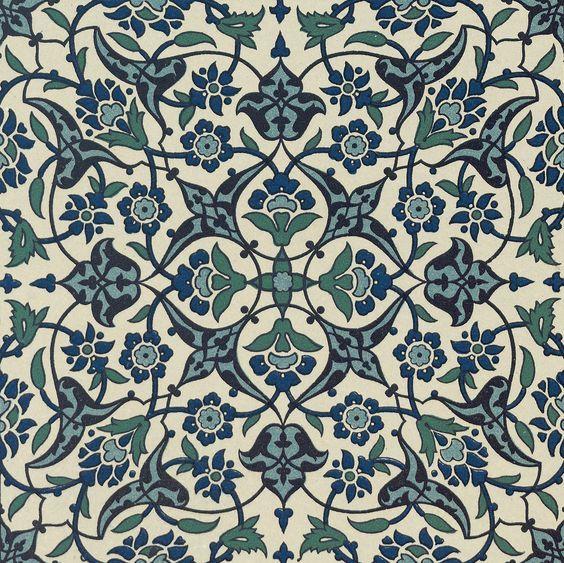 Indigo Blue Vintage flora design Woven Throw Pillo: