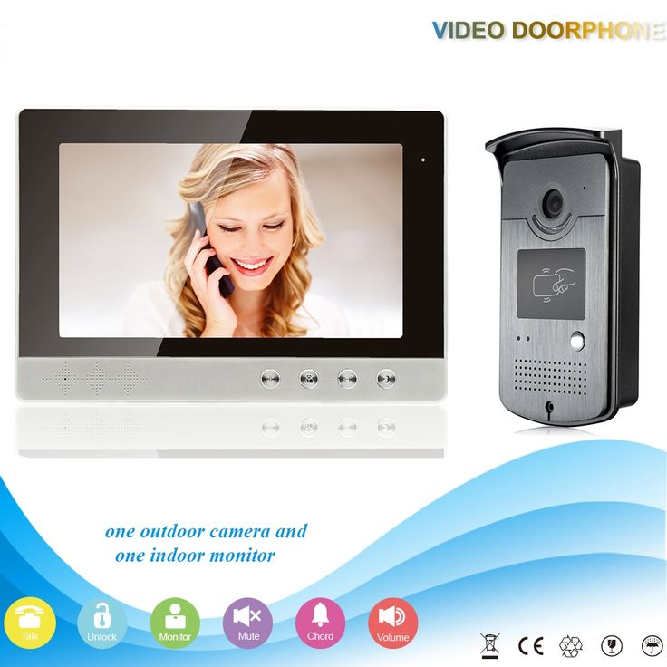 "149.00$  Buy now - http://ali3d3.worldwells.pw/go.php?t=32705465375 - ""10"""" High Resolution 1024 x 800 Color Video Doorphone  700TVL Outdoor Doorbell Camera night vision Mointor Door  Intercom Systems"""