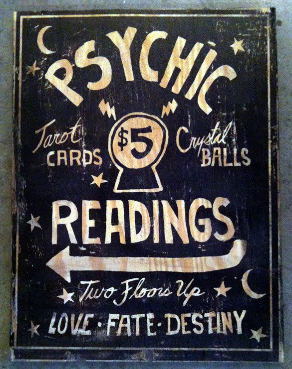 Psychic Readings Wood Sign. $95.00, via Etsy.
