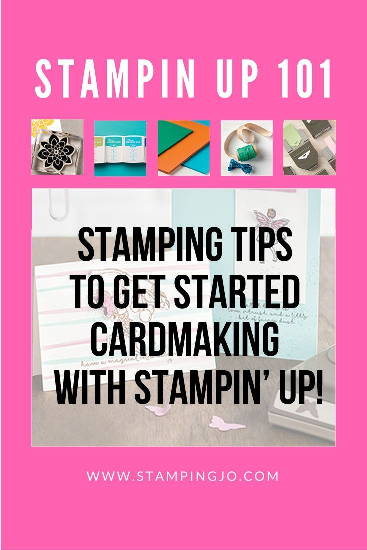 New to stamping? I've got some tips to get you started with Stampin Up products!