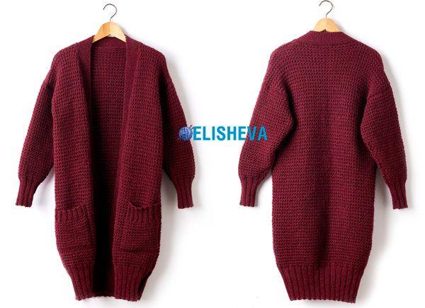 Темно-синий пуловер с круглой кокеткой связанный спицами. Схема | Блог elisheva.ru