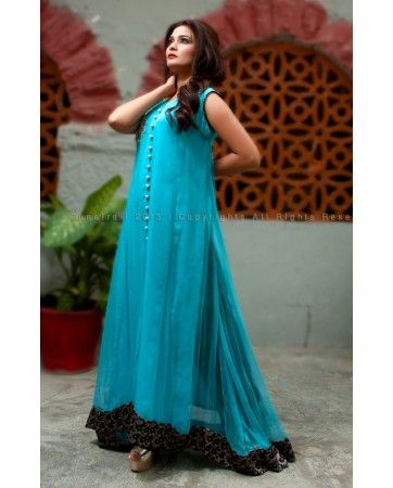 Pakistan Clothing Floating Chiffon Formal Pakistani Dress 2013 by Zunaira Lounge - Pakistani Clothing Latest 2013 Fashion. £65 Only with free delivery in United Kingdom