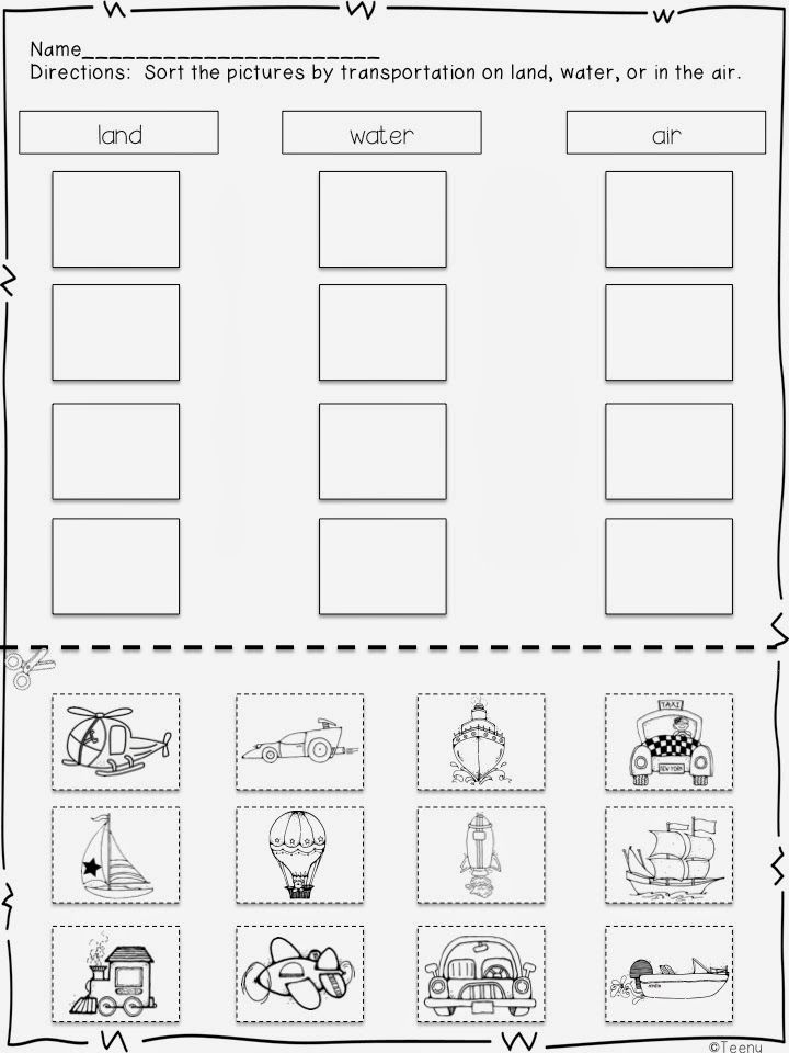 15 best transportation worksheet for kids images on pinterest. Black Bedroom Furniture Sets. Home Design Ideas