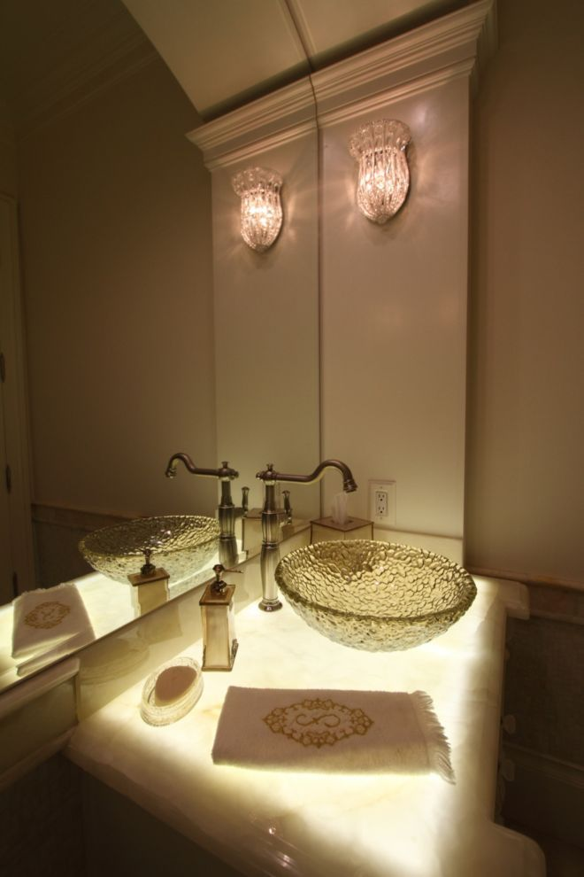 interesting bathroom light fixtures%0A This bathroom u    s lighting installation was completed by DeVance Electronic  Lifestyle   luxeDallas