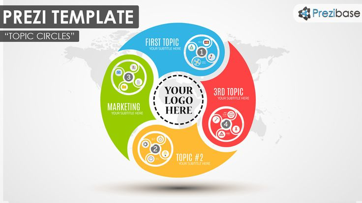 circle diagram colorful ideas infographic prezi template