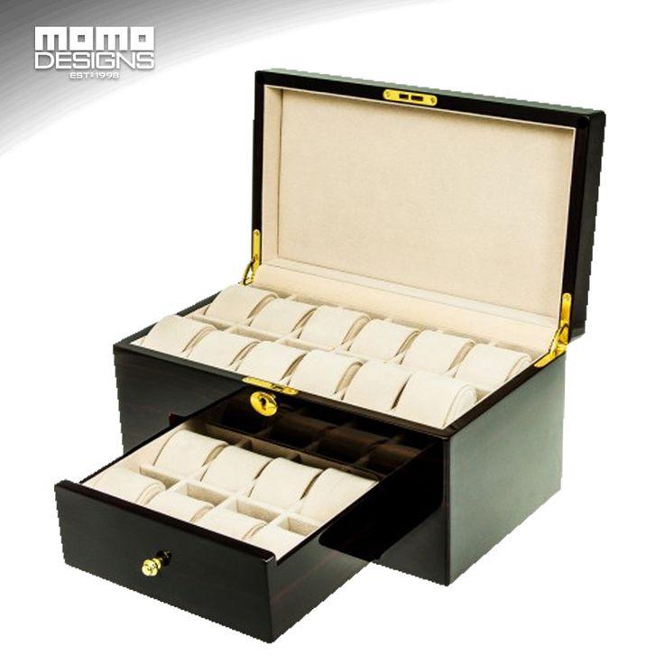 (299.00$)  Watch more here  - Watch box wood LUXURY wooden watch storage box Watch display box packaging Large capacity watch showcase