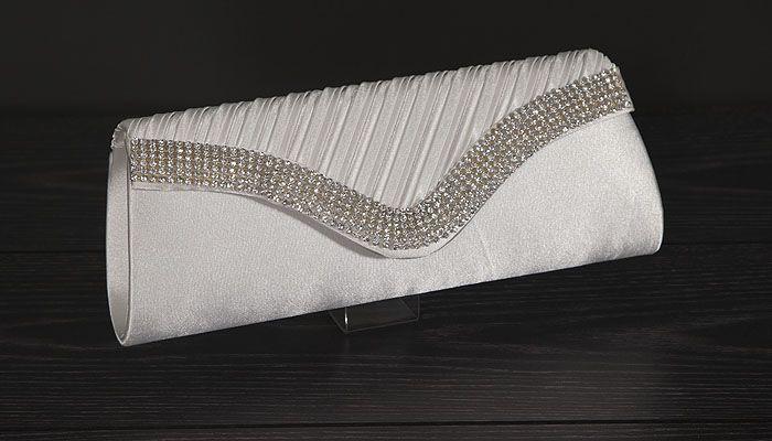 Elegante envelop tas met feestelijke gala details! Inclusief optionele zilveren draagketting. €24,10