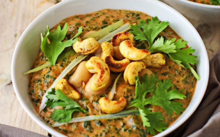 Cashew Spinat Cannellini-Bohnen-Eintopf [Vegan, Glutenfrei] | One Green Planet