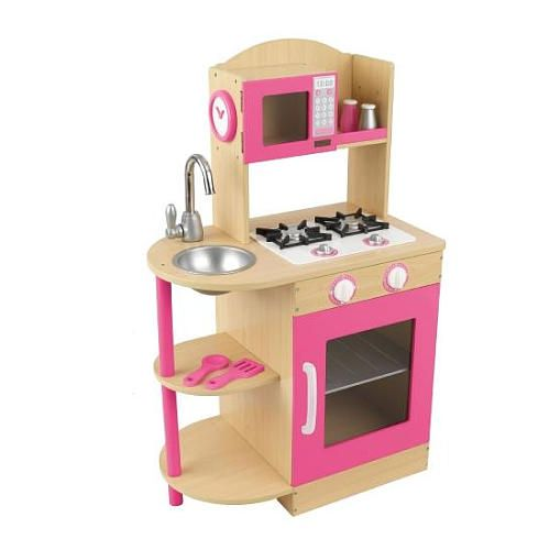 "KidKraft Wooden Kitchen Set - Pink - KidKraft - Toys ""R"" Us"