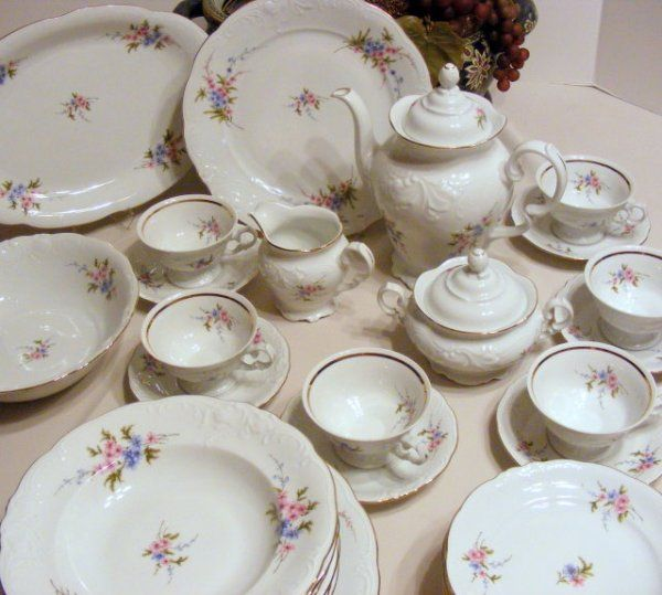 Porcelain From Poland | Antique Porcelain Dinnerware Wawel Poland -  Lot 2495240 & The 8 best Wawell Poland images on Pinterest | Poland Porcelain ...