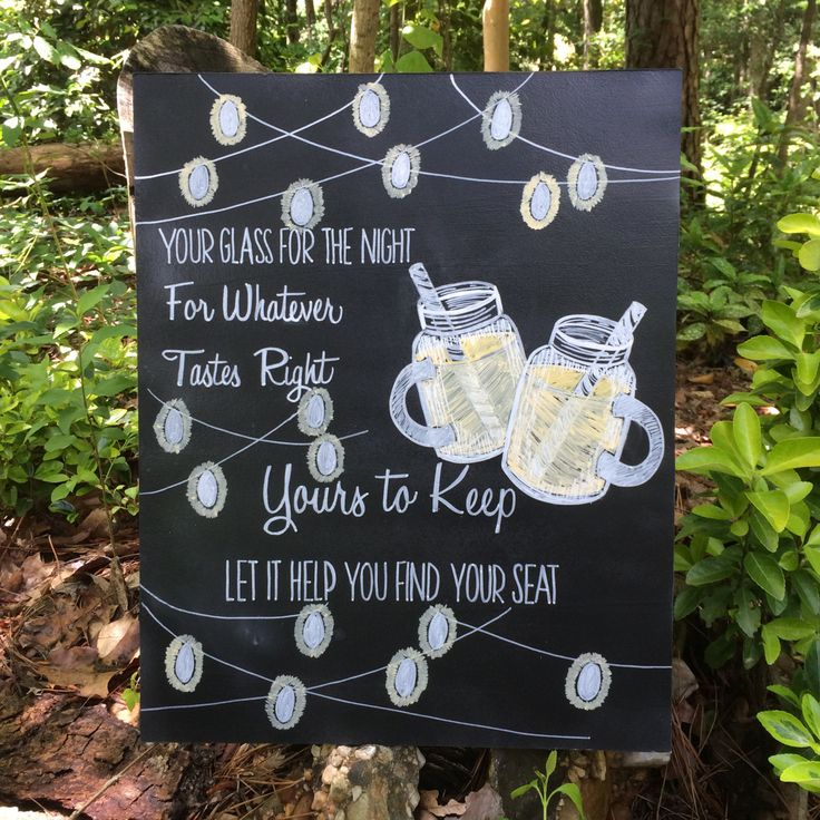 Guest Wedding Favor Mason Jar Or Mug Hand Painted And
