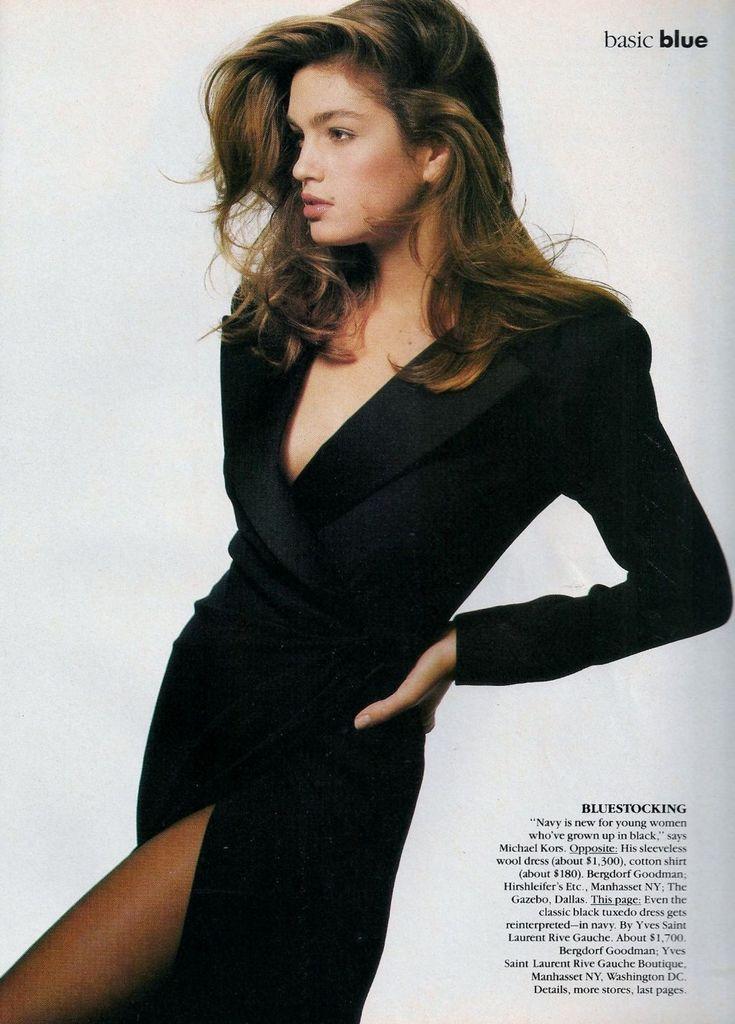 "— 80s-90s-supermodels:   ""Basic Blue"", VOGUE US,..."