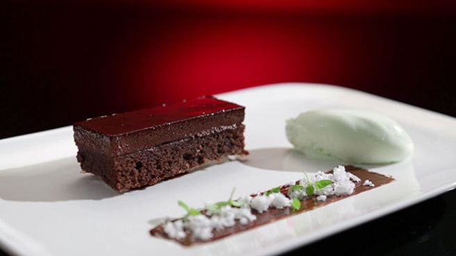 "chocolate peppermint 'delice' recipe from Steph & Dan Mulheron on ""My Kitchen Rules"", Australia."