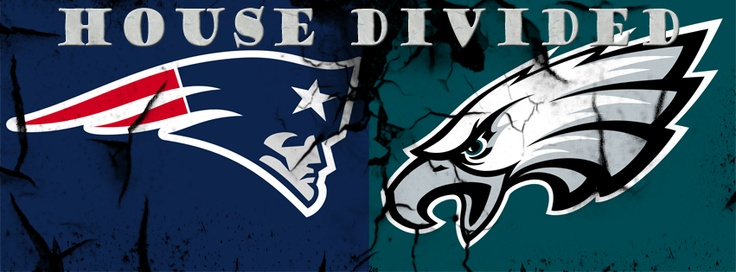 Patriots - Eagles House Divided Facebook Cover Image - Ready for 2012 NFL Season
