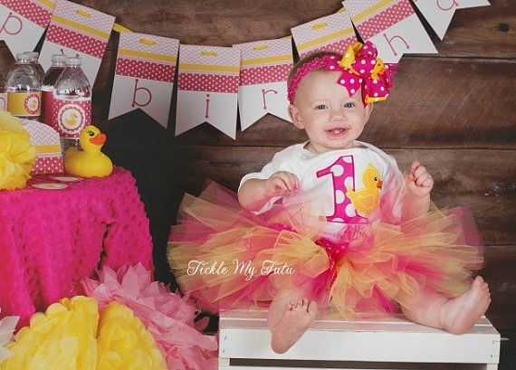 Rubber Ducky Themed Birthday Tutu Outfit Rubber by TickleMyTutu, $54.95