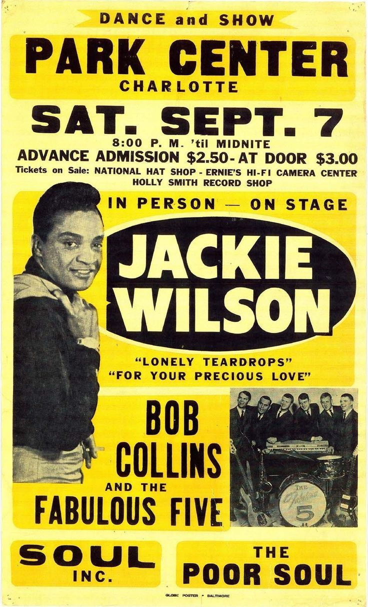 """Jackie Wilson Nostalgic Rock and Roll Music 13"""" x 19"""" Concert Poster"""