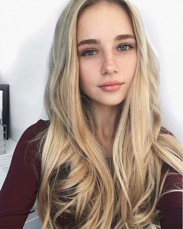 Hübsche MäDchen Blonde Haare