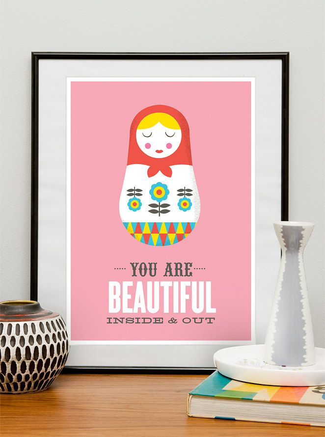 Matryoshka quote poster,love