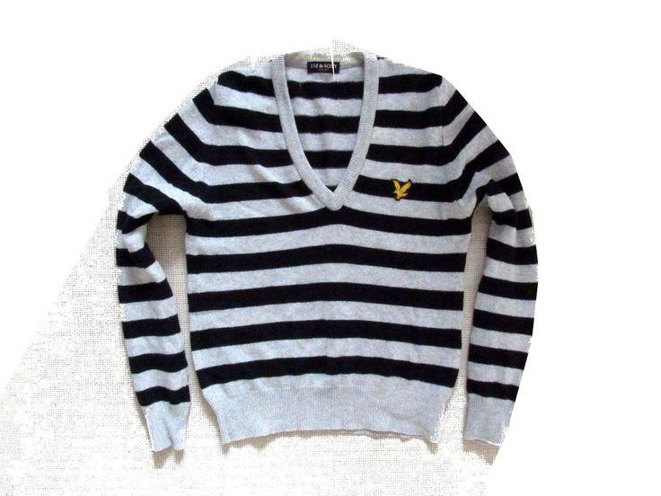 mens  sweater  Lyle&Scott  with  cashmere    model vintage  Size M   #LyleScott #vintage