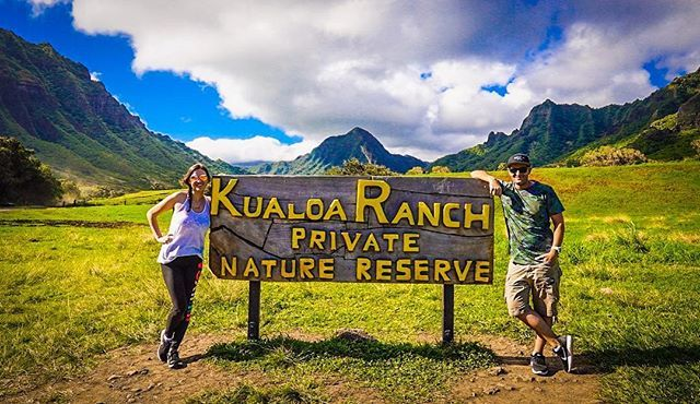 Happy Monday InstaFam! We hope everyone had a great weekend  .  As we gear up for new destinations and new adventures we cant help but reflect on our favorites  .  Where are your favorite places in the world? Ours are Mexico & Hawaii  .  This shot was taken at @kualoaranch - were a bit happy to be there if you cant tell  This is mid-atv ride! . @oahuvb @gohawaiica @journeysbyescapes . . . . . . . . . #lethawaiihappen #alohanorth #kualoaranch #travelcouple #couplegoals #torontobloggers…