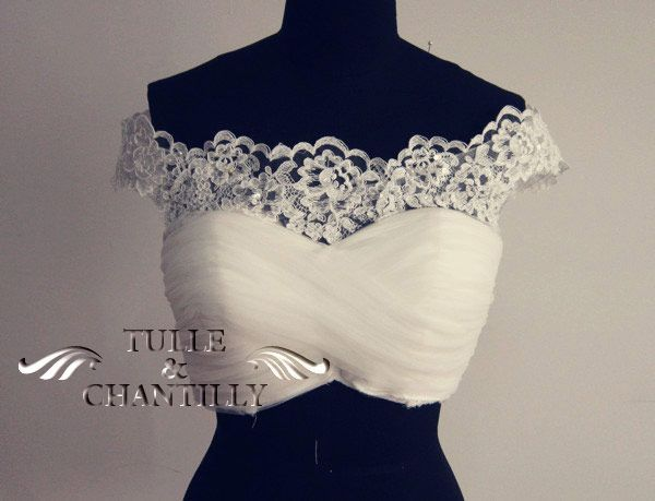 {Process Show Time} Romantic Custom Off-the-Shoulder Lace Applique Mermaid Wedding Dress with Train