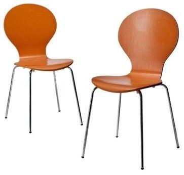 Stacking Chair, Orange (Set Of 2) Chairs: Target