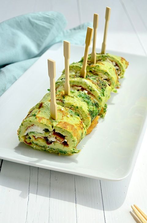 Omelet rolletjes - Healthy egg rolls with cheese