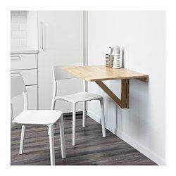 NORBO Wall-mounted drop-leaf table, birch - IKEA