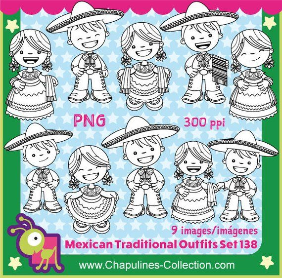 60 Off Mexican Outfits Clipart China Poblana And Charro Black And White Mexico Clipart Kids Fiesta 5 De Mayo Set 138 Clip Art Mexican Outfit Mexican