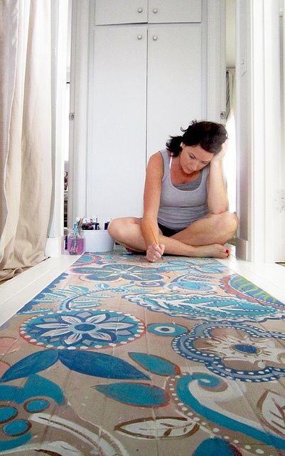 Painted floor.