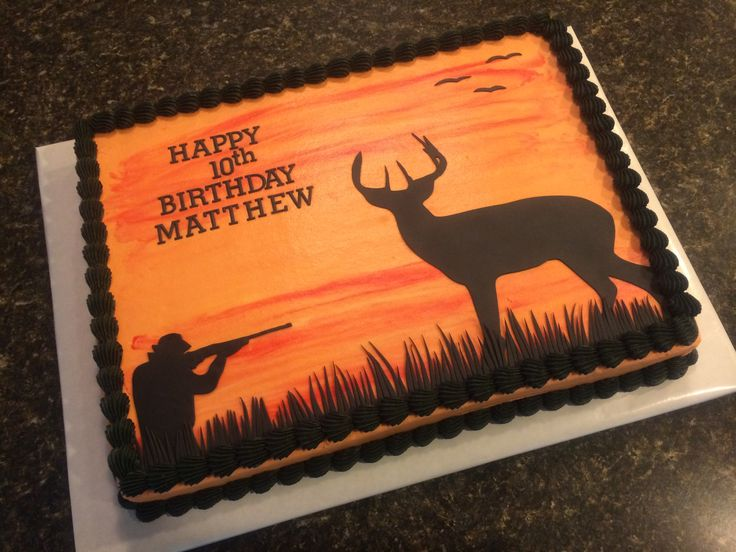 Deer hunting sheet cake