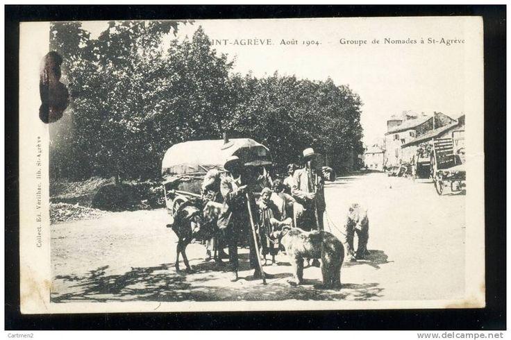 Saint Agrève, groupe de nomades (futur télétravailleur ?)