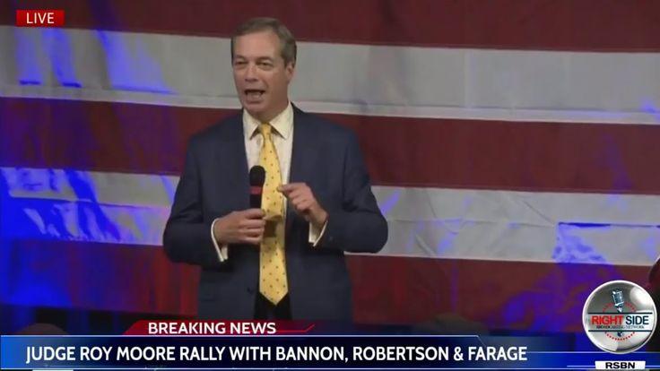 Nigel Farage speech in Alabama in support of Roy Moore