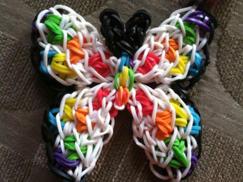 RAINBOW COLORED BUTTERFLY NECKLACE ☆UNIQUE☆