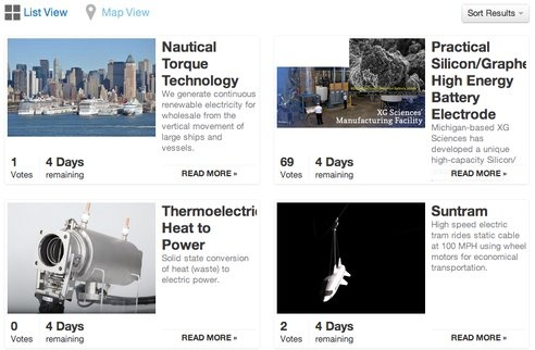 Vote for Your Favorite 'Future Energy' Projects : TreeHugger