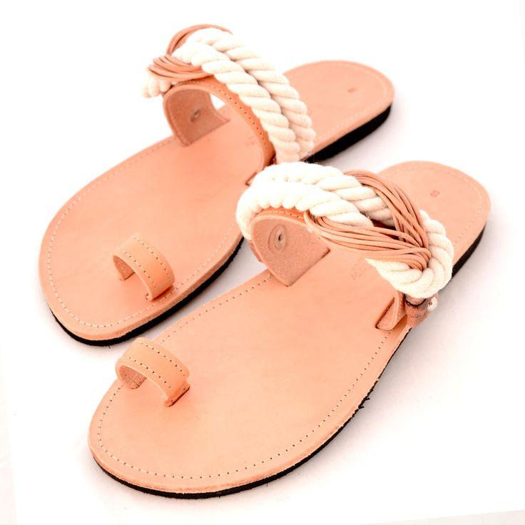 Handmade Greek leather sandals @ www.littlestore.gr/en