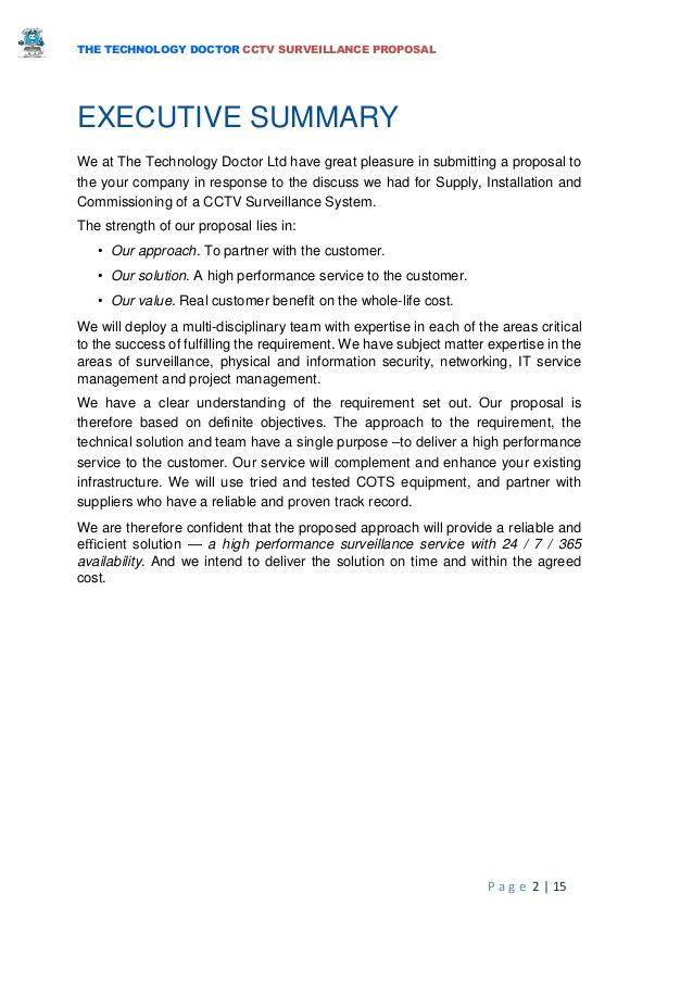 Security and surveillance business plan example explanation text homework
