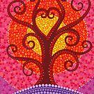 Heart Energy Radiating Tree by Elspeth McLean