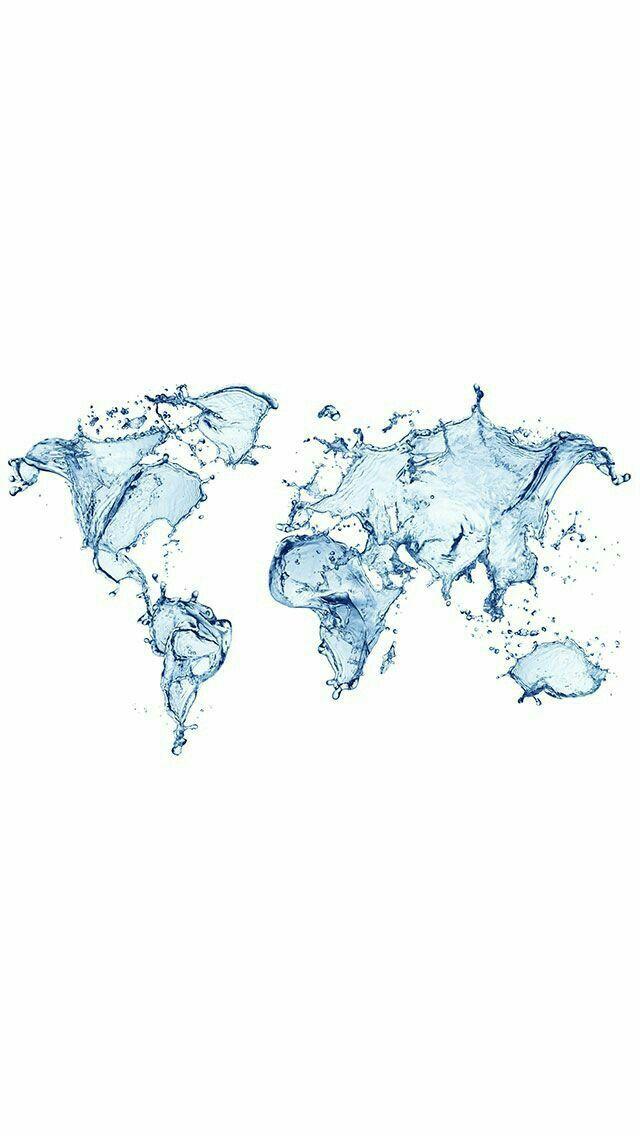 map / water - phone wallpaper