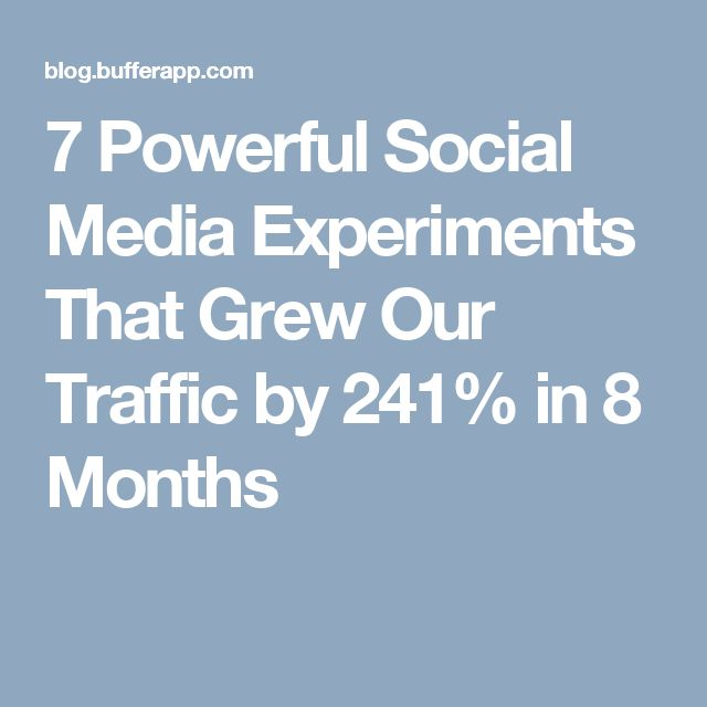 7 Powerful Social Media Experiments That Grew Our Traffic by 241% in 8 Months