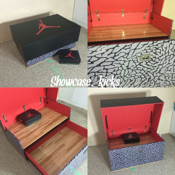 Jordan 3 Court Edition giant sneaker storage box with real hardwood. Makes  sense no? Jordan Shoe ...