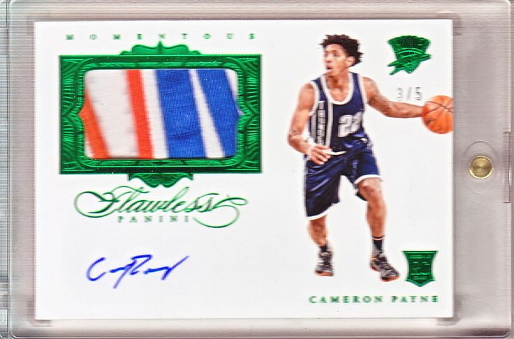 CAMERON PAYNE 2015-16 FLAWLESS EMERAL ROOKIE PATCH AUTO /5